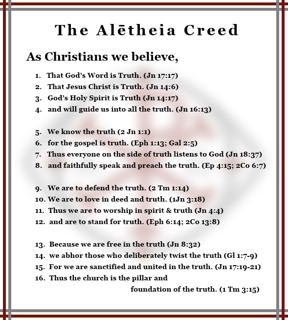 The Alētheia Creed