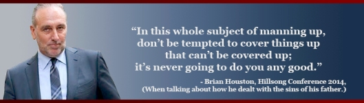Brian Houston quote - cover up Royal Commission Hillsong