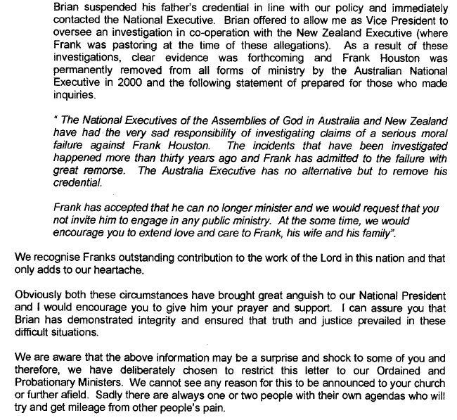 Executive Privilege Letter: Brian Claims Clergy Privilege To Prevent Police
