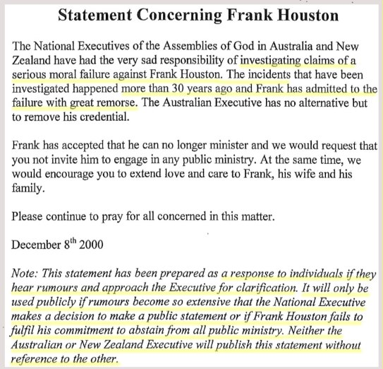 20001208-AOGA-NZ-Agreed-prepared-stmt-re-Frank-Houston-moral-failure