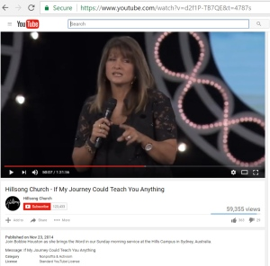 2014/11/23 Hillsong-Bobbie Houston Comments On Royal Commission In Sermon If My Journey...