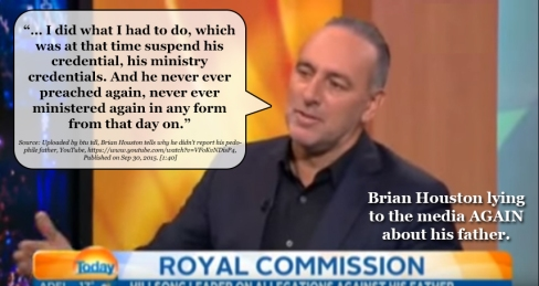 Brian Houston Lying to Media