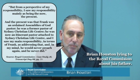 Brian Houston Lying to Royal Commission2