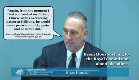 Brian Houston Lying to Royal Commission3