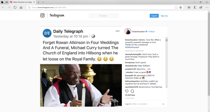 2018-05-20_Instagram-MichaelCurry-BrianHouston-Telegraph